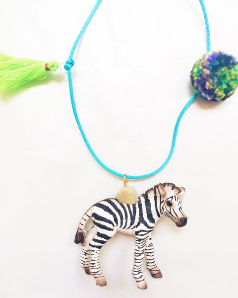 Zebra Wild Animal Necklace
