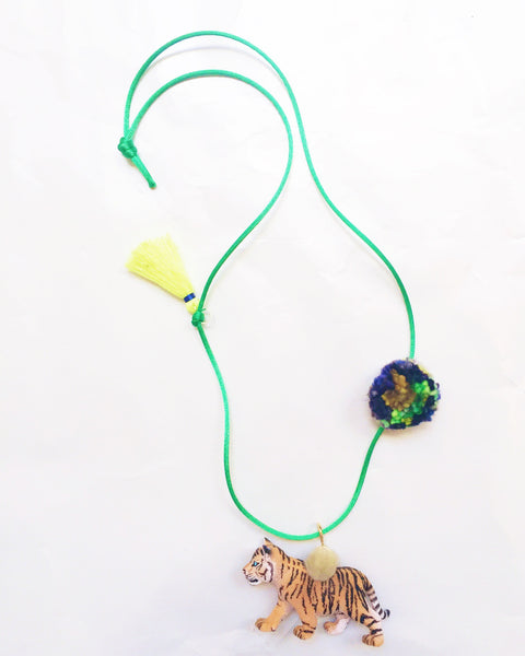 Tiger Wild Animal Necklace