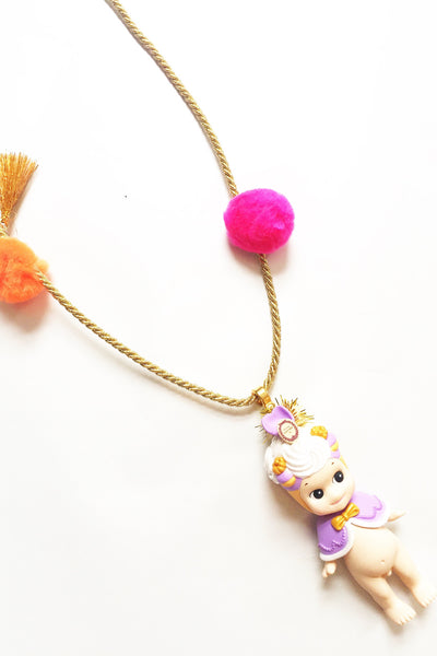 Saint-Honore Violette Ladurée doll necklace
