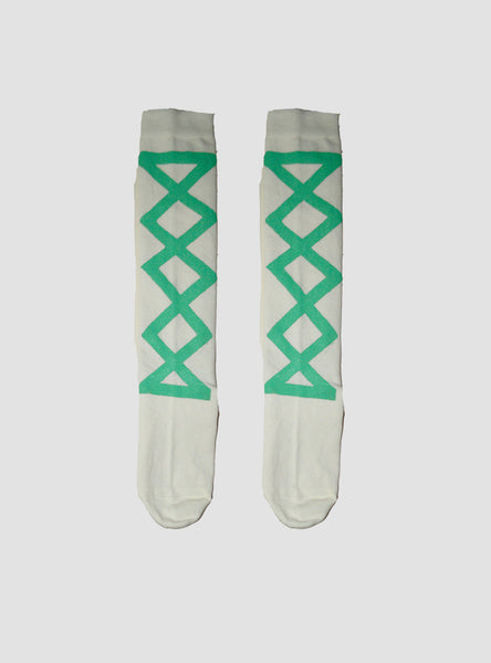Seafoam Ribbon Knee Socks