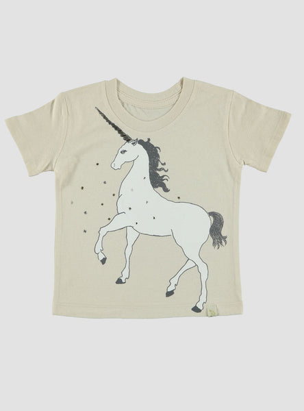 Golden Unicorn Natural Crew Tee