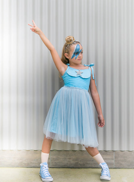Wonderland Tutu Dress Blue