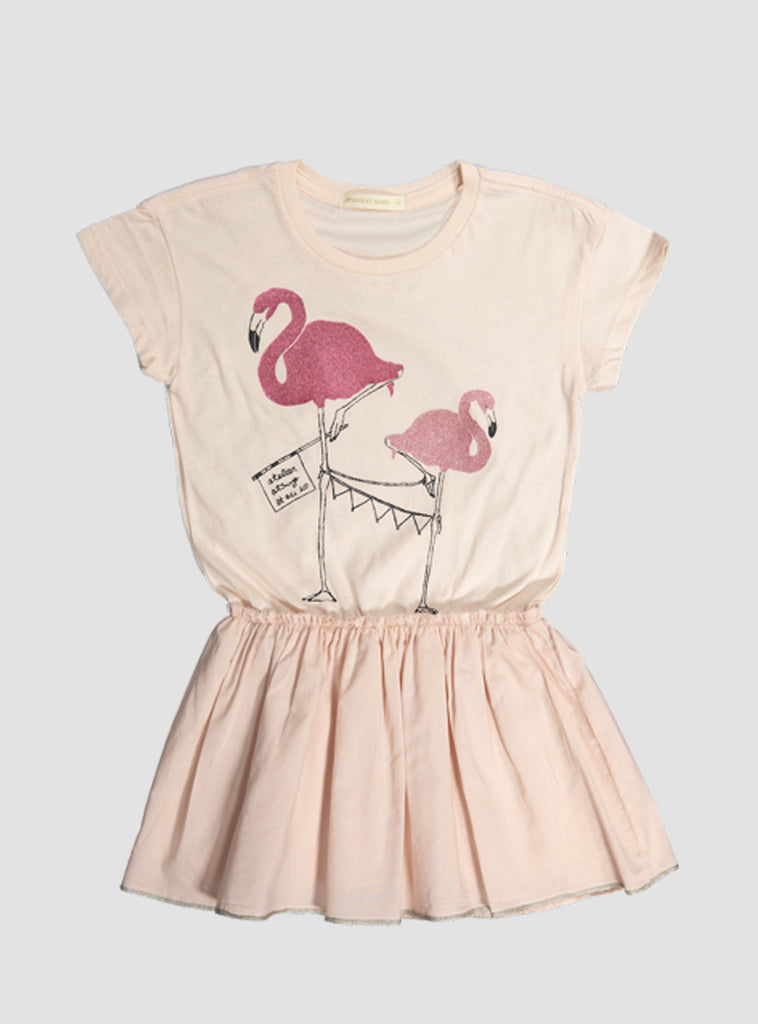 Flamingo Lara Dress in Peach