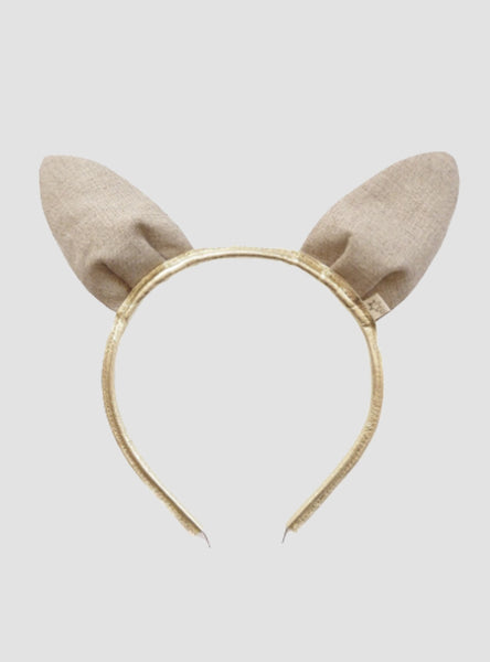 Gold sparkly rabbit ear headband