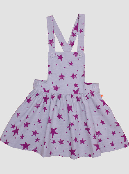 Pink Stars Purple Dress