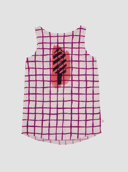 Purple Grid Ice Cream Tank