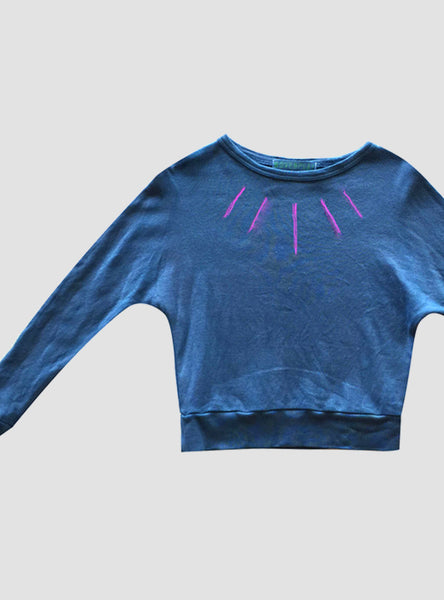 Turquoise/Orchid Jester Long Sleeves Tee