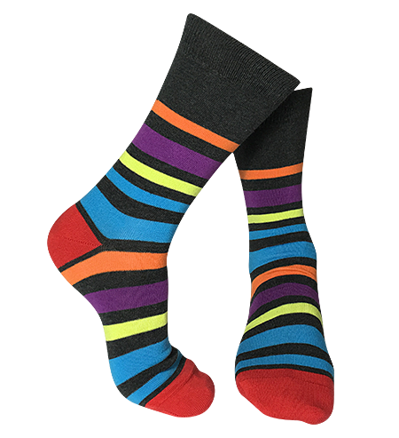 Pair of Maxi-Stripe patterned-bamboo-socks