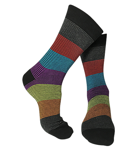 Pair of Mini-Stripe patterned-bamboo-socks