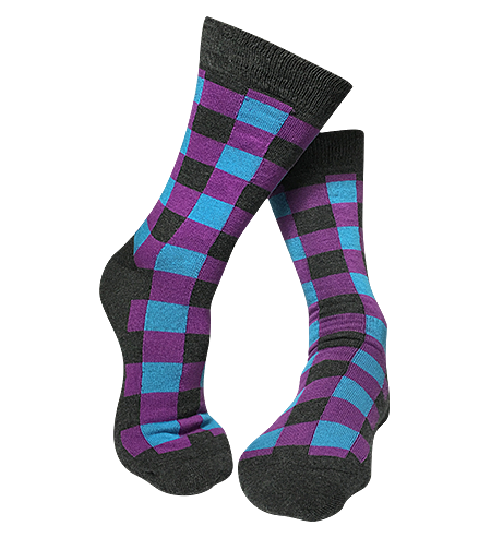 Pair of Square patterned-bamboo-socks