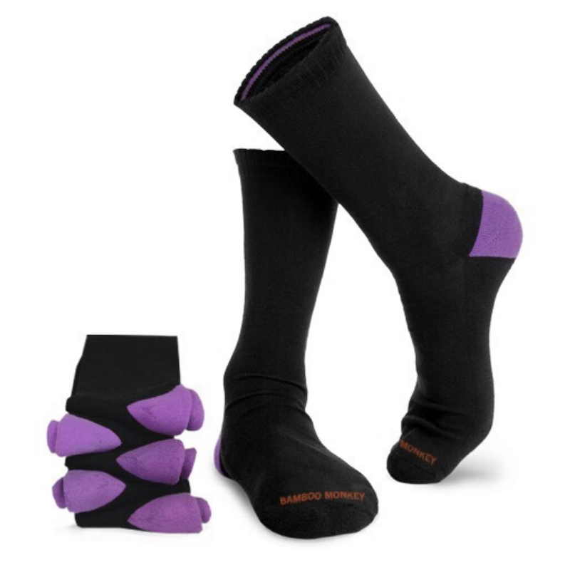 Bamboo Monkey black bamboo socks