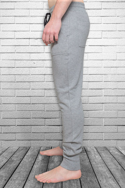 Bamboo Monkey mens urban track pant in micro stripe side view