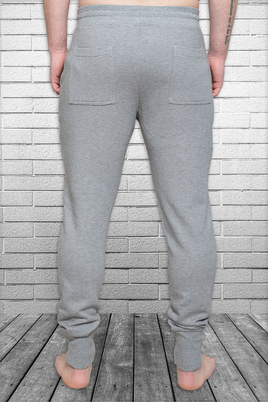 Bamboo Monkey mens urban track pant in micro stripe front view