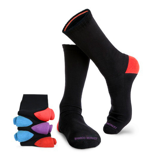 Shop Black Bamboo Dress Socks