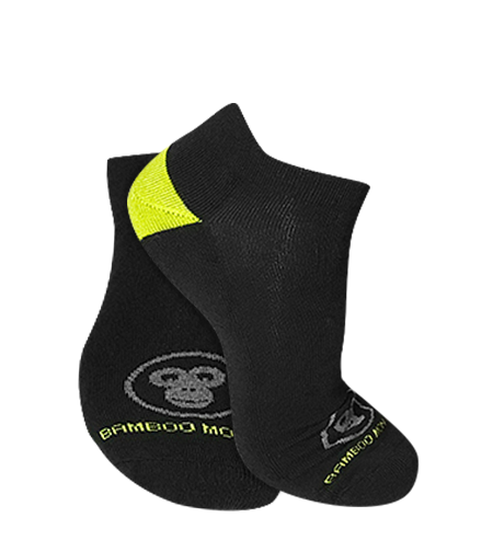 Bamboo sports socks Black
