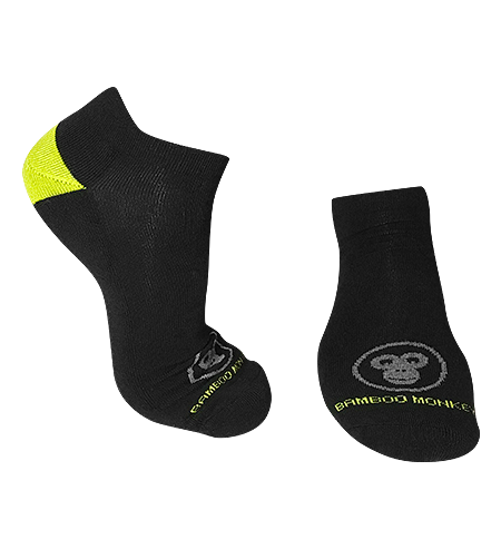 Black bamboo-sports-socks