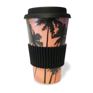 Bamboo Monkey re-usable coffee cup made from Bamboo.