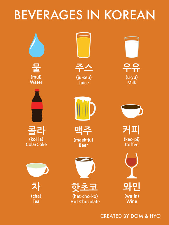 Beverages in Korean