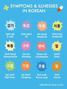 Illnesses in Korean Part 1 Poster