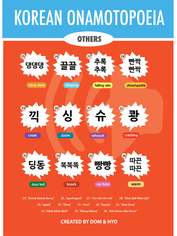 Korean Onomatopoeia (Other) Poster