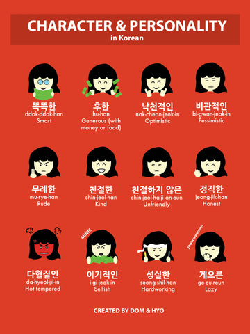 Character & Personality Words in Korean