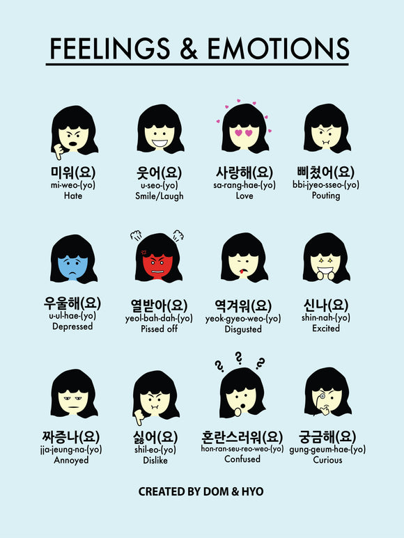 Feelings & Emotions in Korean Part 2 Poster