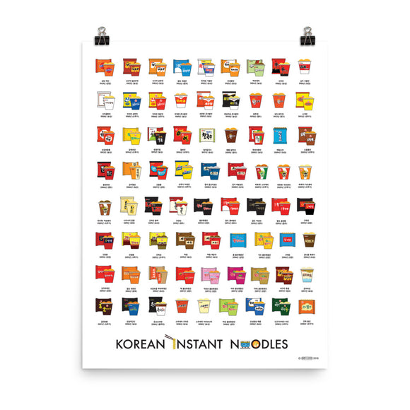 Korean Instant Noodles Poster (shipping included in the price)