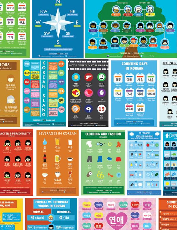 Korean Infographics Compilation