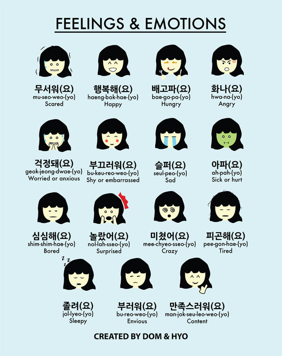 Feelings & Emotions in Korean Part 1 Poster