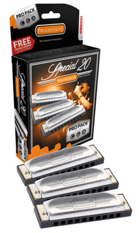 Hohner Special 20 Harmonica 3 piece Pro Pack * FREE FREIGHT*