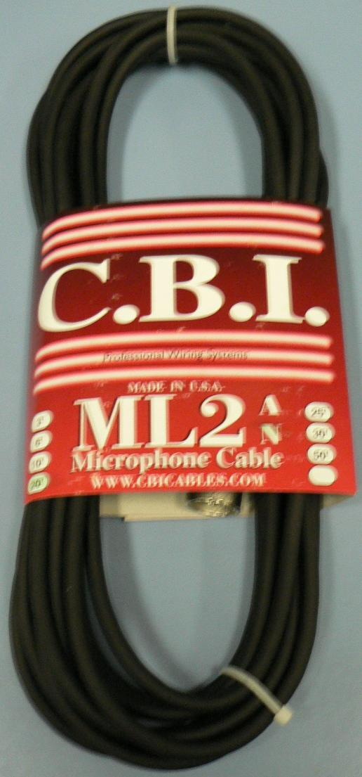 CBI 20 FT MIC CABLE XLR TO XLR ML2N-20