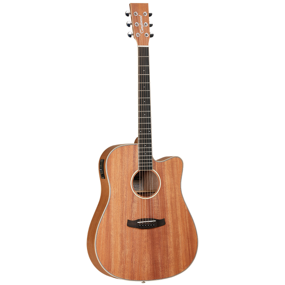 Tanglewood UNION Dreadnought with Solid Top, Pickup/Tuner and Cutaway - TWUDCE