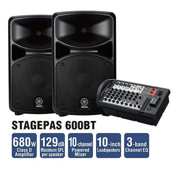 Yamaha Stagepas600BT Portable P.A System with Bluetooth