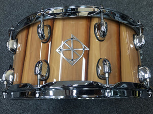 "Dixon Cornerstone Series American Red Gum Snare Drum in Gloss Natural - 14 x 6.5"" Play Dixon, A Sound Choice!"