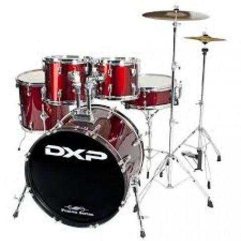 DXP 5 Piece Drum Kit Package - Wine Red