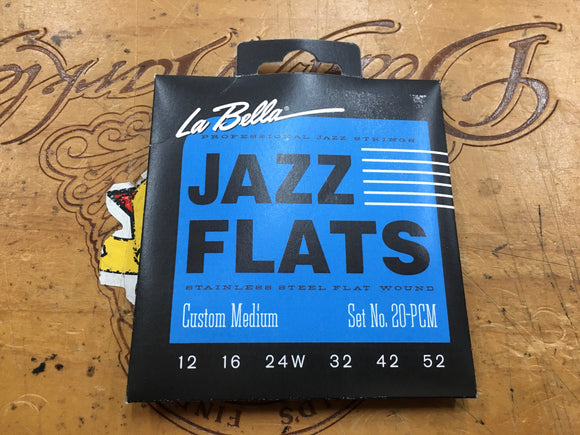 La Bella Jazz flatwound strings