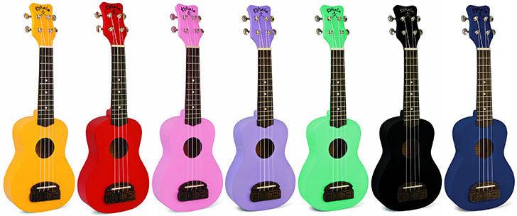 Kohala Tiki Series Soprano Ukulele - Great Colours Available