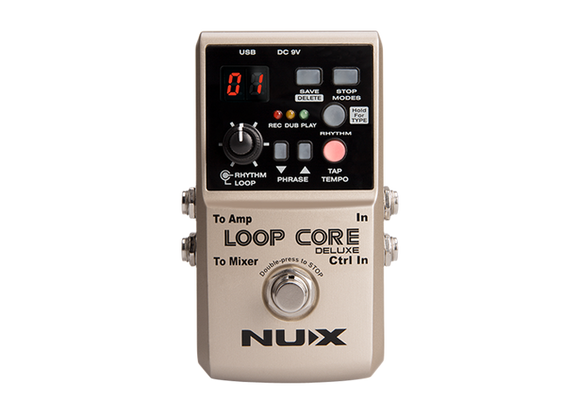 NUX loop core deluxe bundle loop pedal