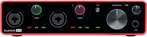 Focusrite Scarlett 4i4 4 in 4 out audio interface