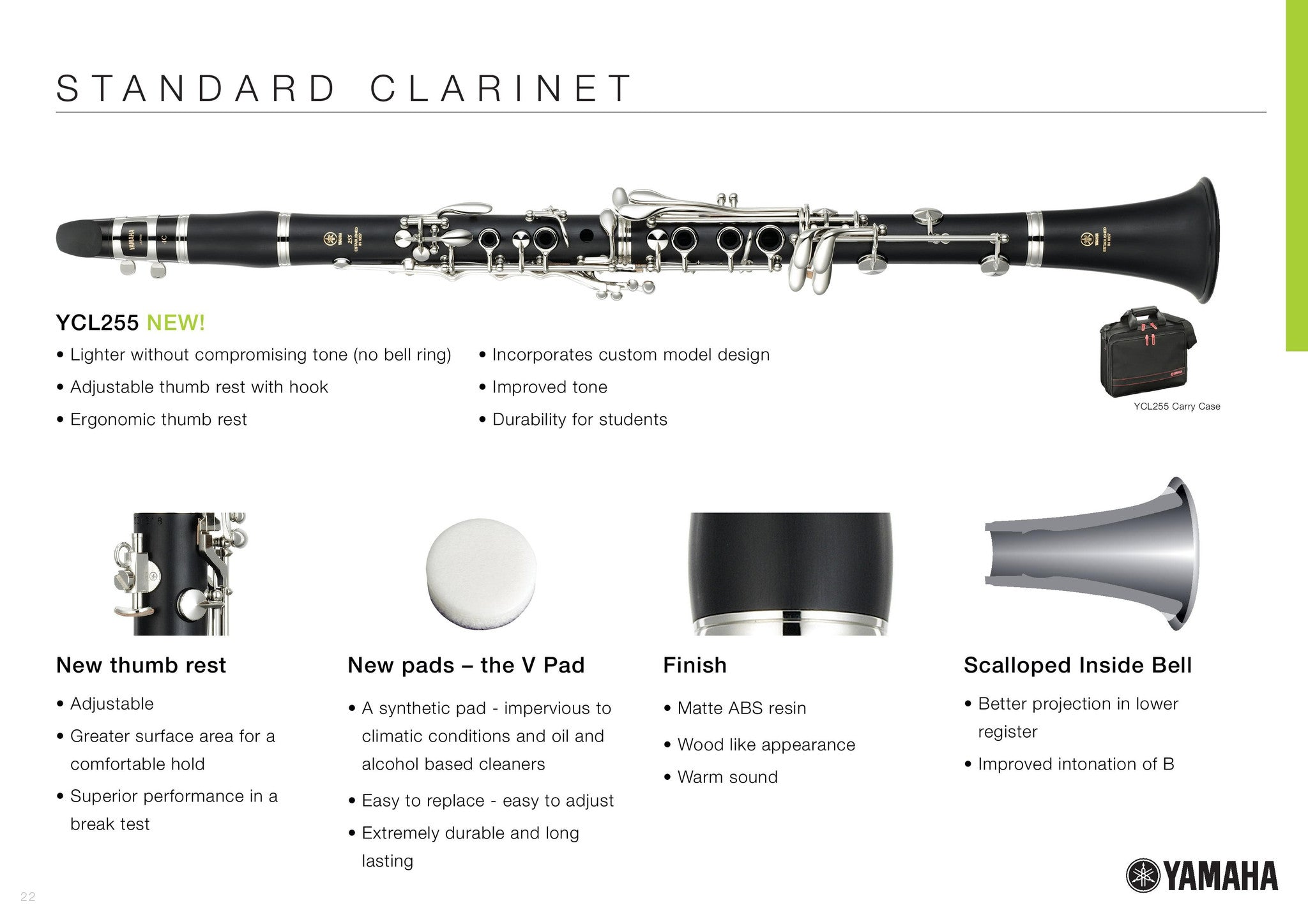 Yamaha YCL-255 Student Clarinet MINT CONDITION WHY RENT?