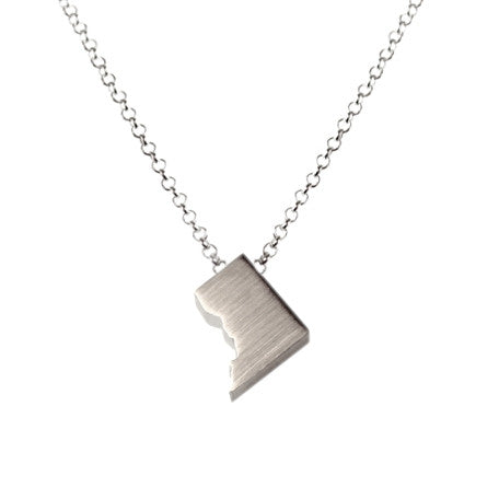 Washington, D.C. Silhouette Necklace