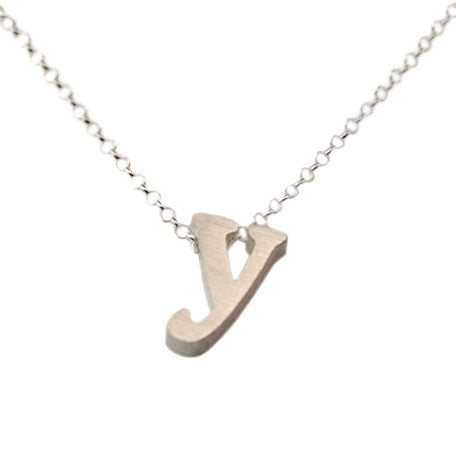 Initial Necklace - Y