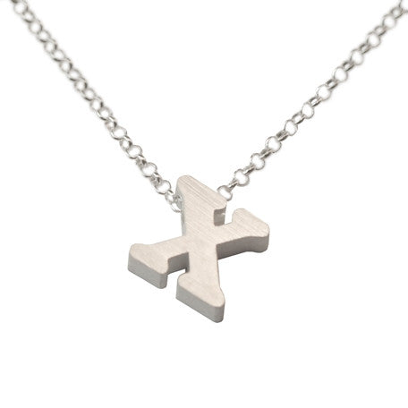 Initial Necklace - X