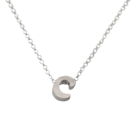 Initial Necklace - C