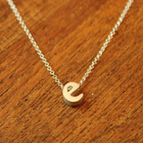 Initial Necklace - E