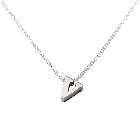 Initial Necklace - V
