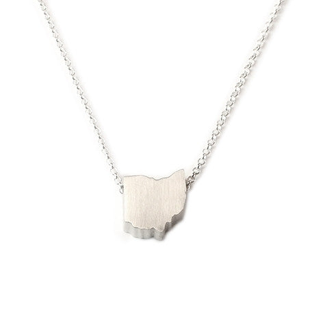 Ohio Silhouette Necklace
