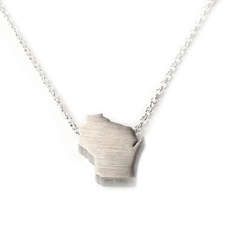 Wisconsin Silhouette Necklace