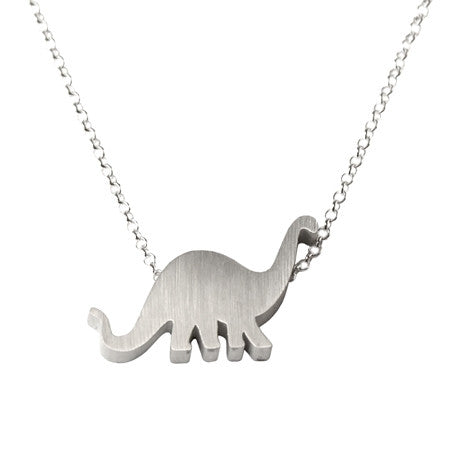 Brontosaurus Silhouette Necklace