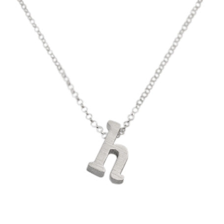 Initial Necklace - H
